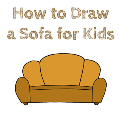 How to Draw a Sofa Easy