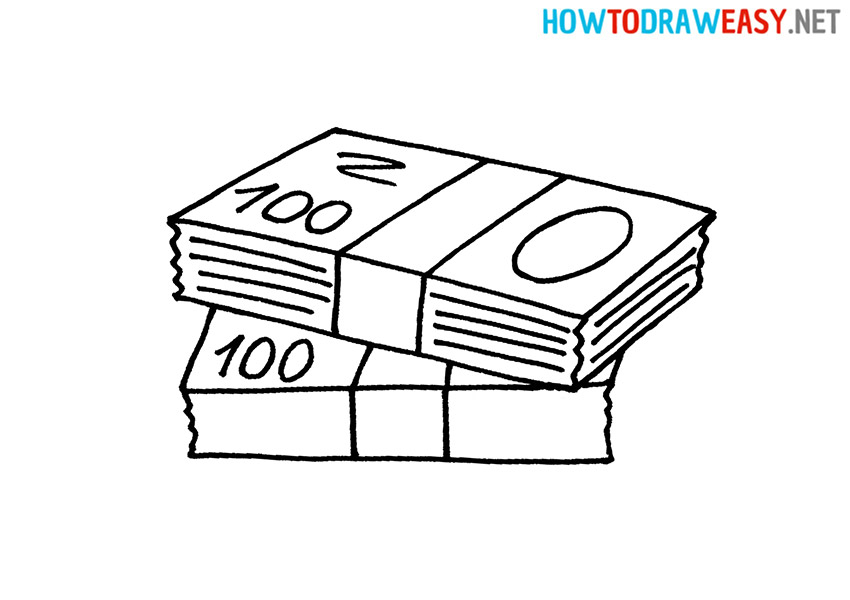How to Draw a Stack of Cash