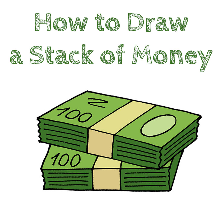 How to Draw a Stack of Money for Kids