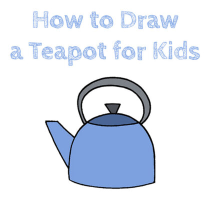 How to Draw a Teapot Easy