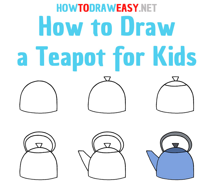 How to Draw a Teapot Step by Step
