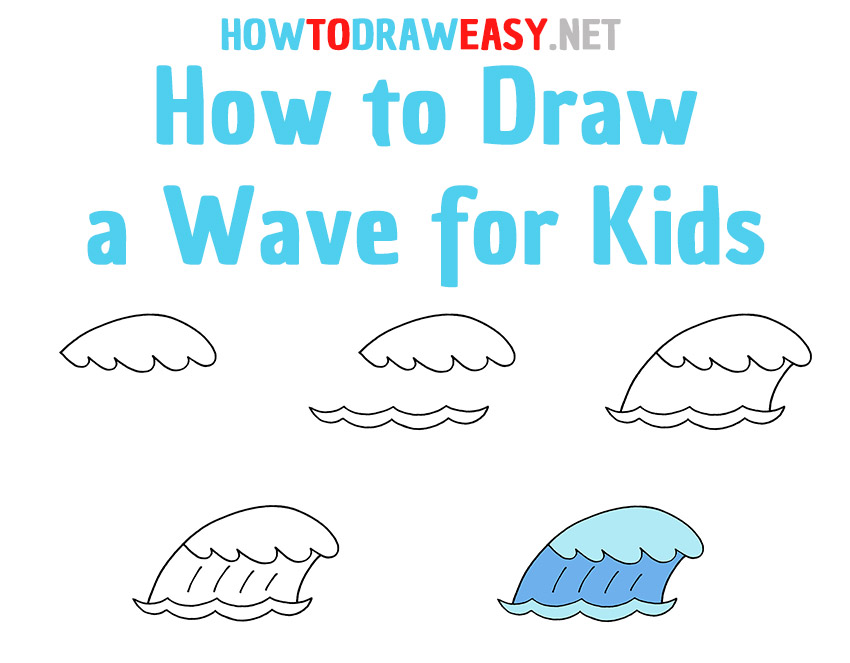 How to Draw a Wave Step by Step