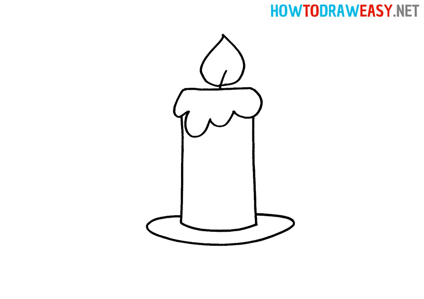 How to Draw an Easy Candle