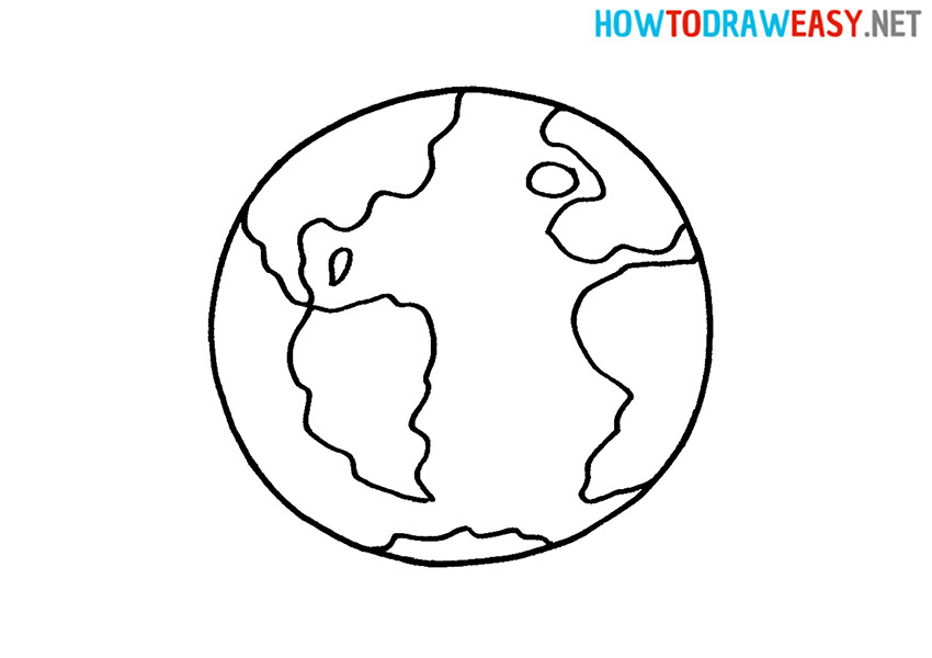 How to Draw an Easy Earth