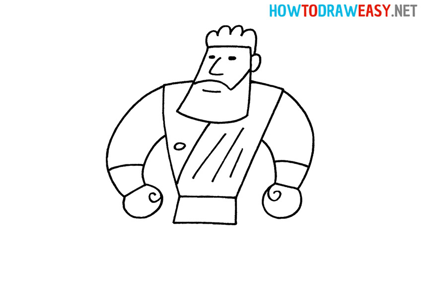 How to Draw an Easy Hercules
