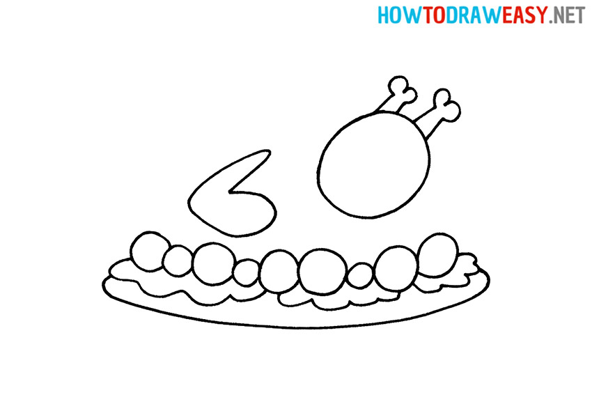 How to Draw an Easy Roast Turkey