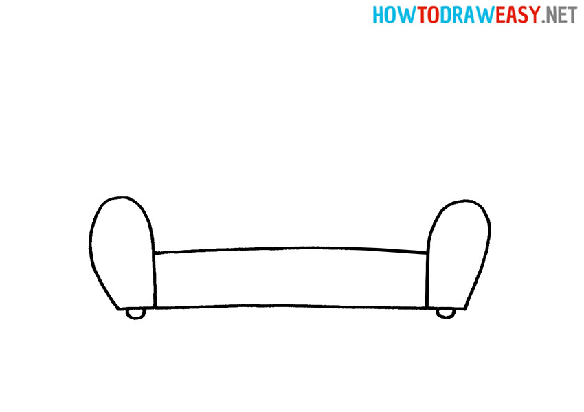 How to Draw an Easy Sofa