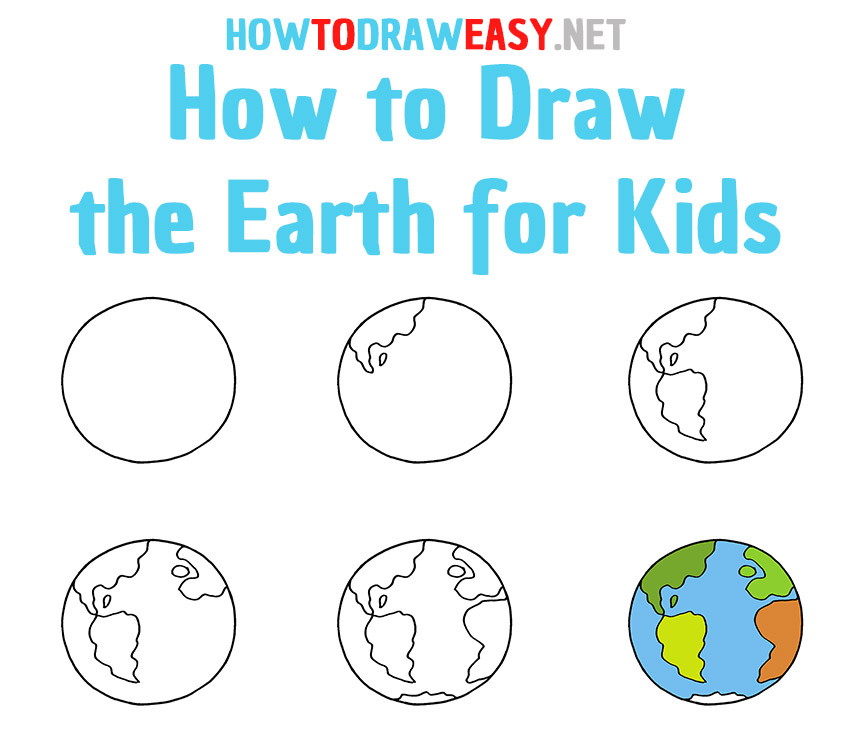 How to Draw the Earth Step by Step