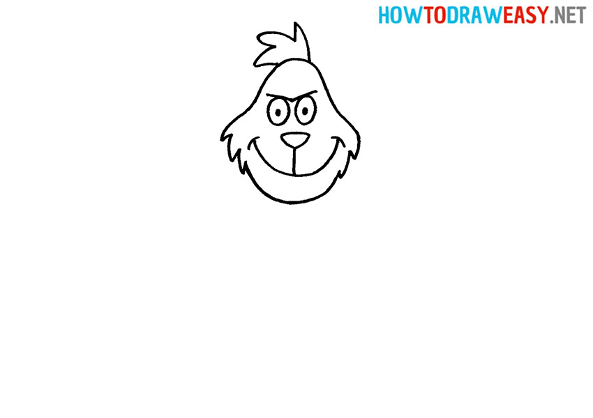 How to Draw the Grinch Face