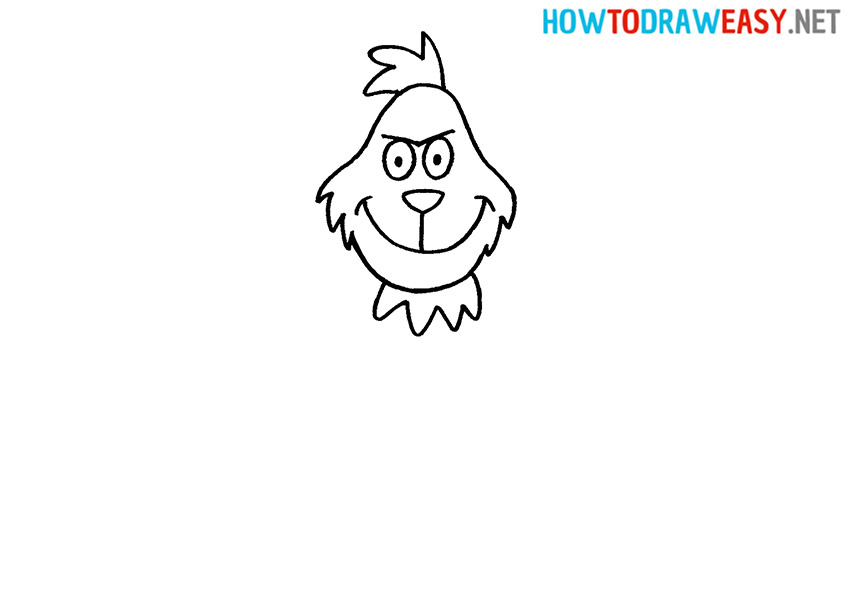 How to Draw the Grinch Head