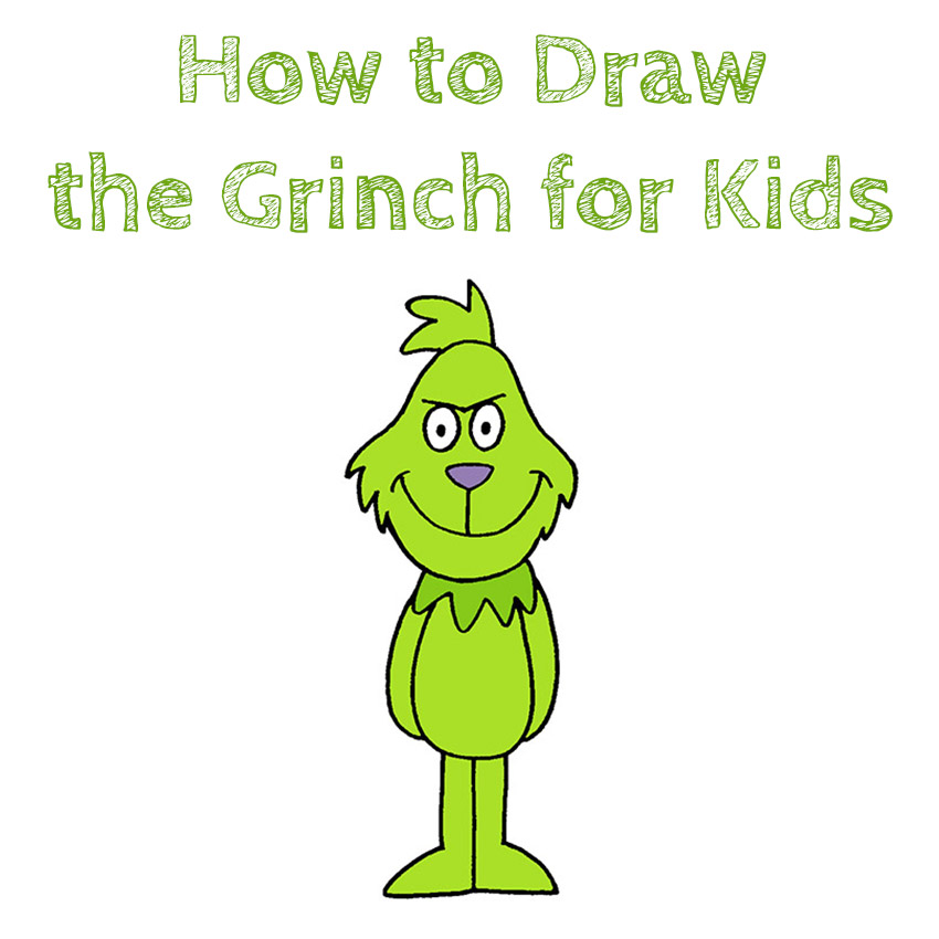 How to Draw the Grinch for Kids