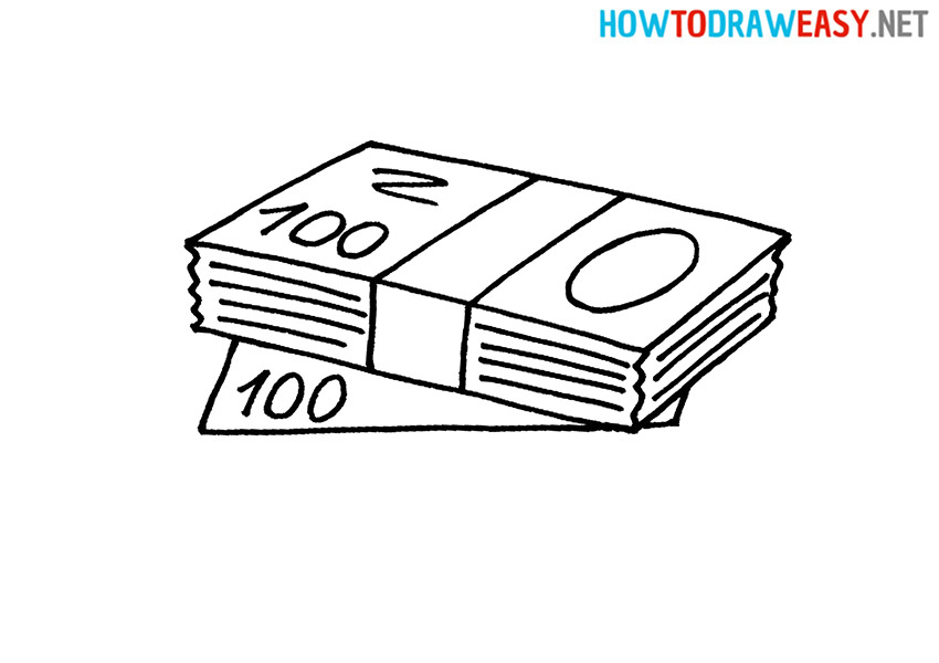 Money Stack Drawing Tutorial