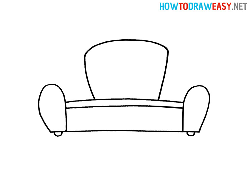 Sofa How to Draw