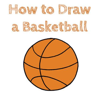 Basketball Drawing Tutorial