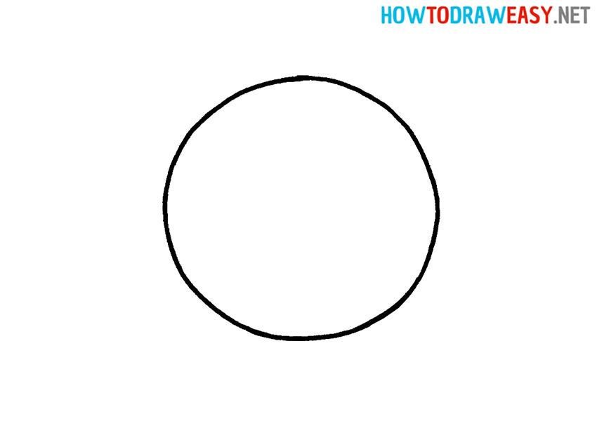 Basketball Shape Drawing