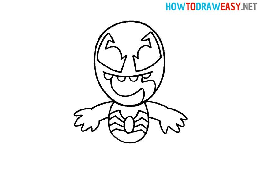 Cartoon Venom Drawing