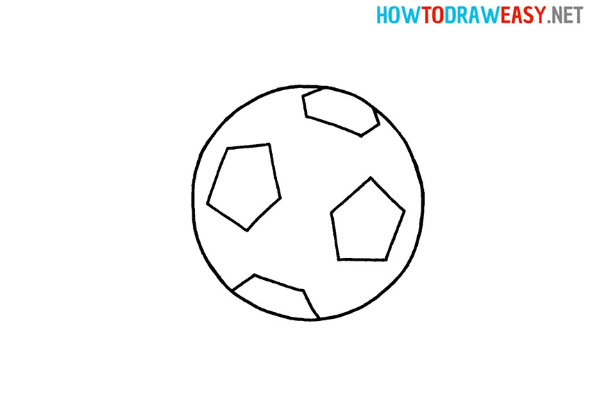 Easy Soccer Ball Drawing
