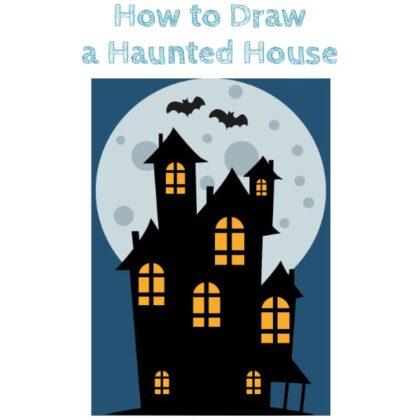 Halloween House Drawing Tutorial
