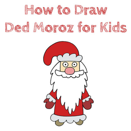 How to Draw Ded Moroz Easy