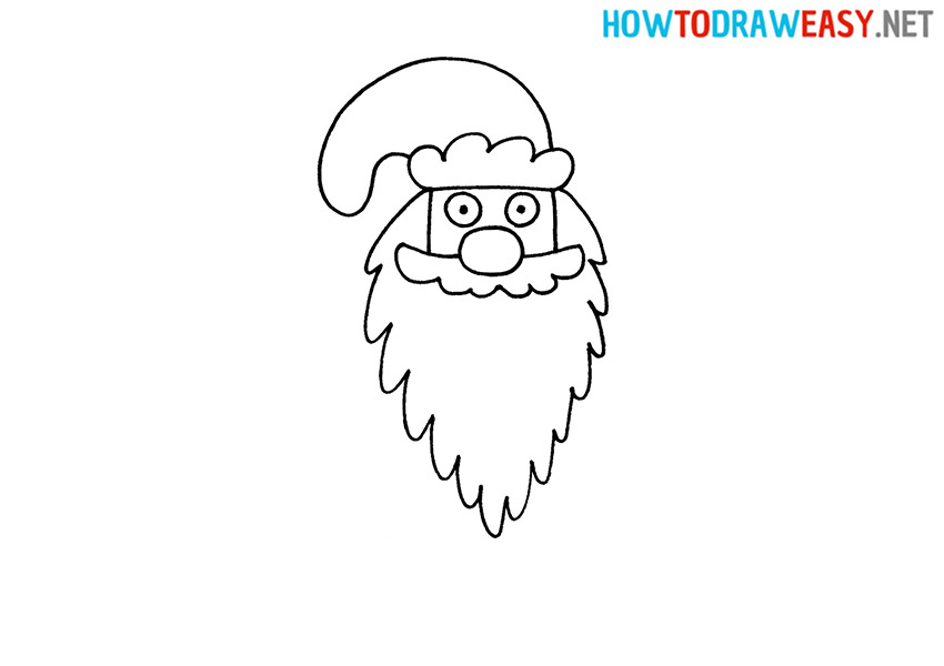 How to Draw Ded Moroz Head