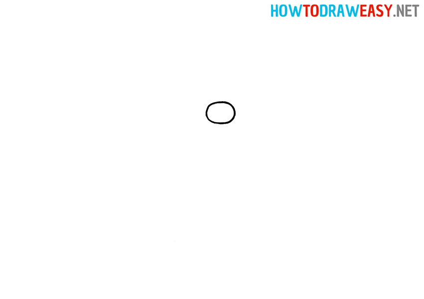 How to Draw Ded Moroz Step 1