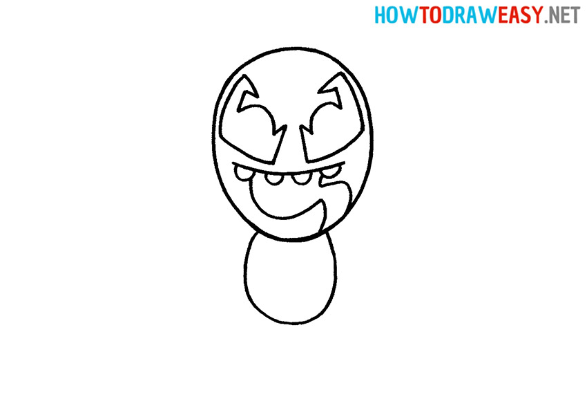How to Draw Simple Venom