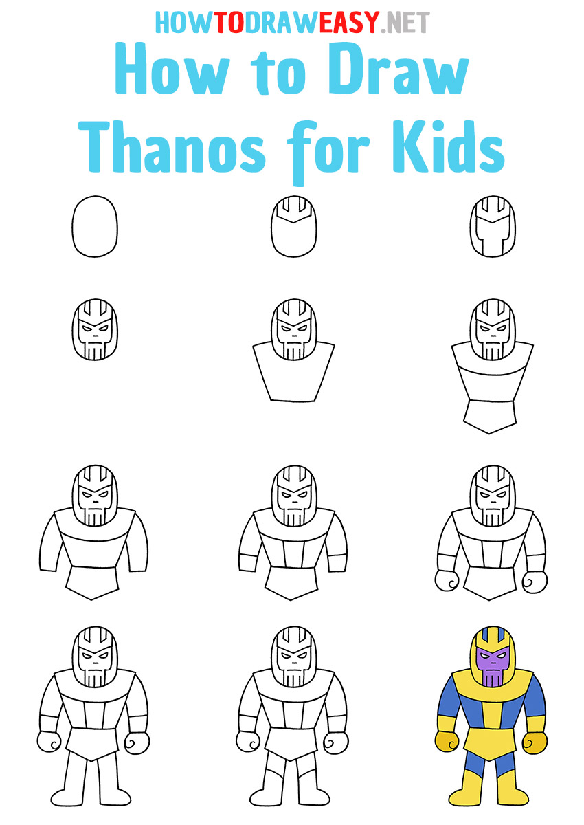 How to Draw Thanos Step by Step