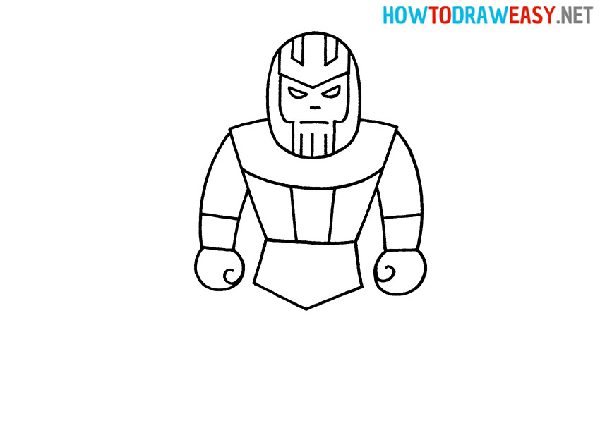 How to Draw Thanos for Kids