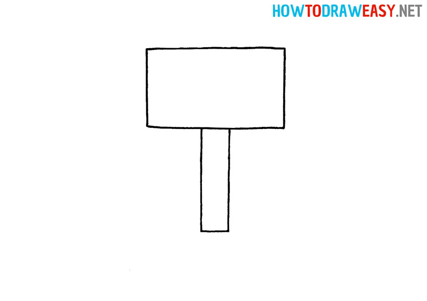 How to Draw Thor Hammer Mjolnir