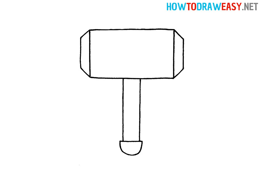 How to Draw Thor's Hammer for Kids