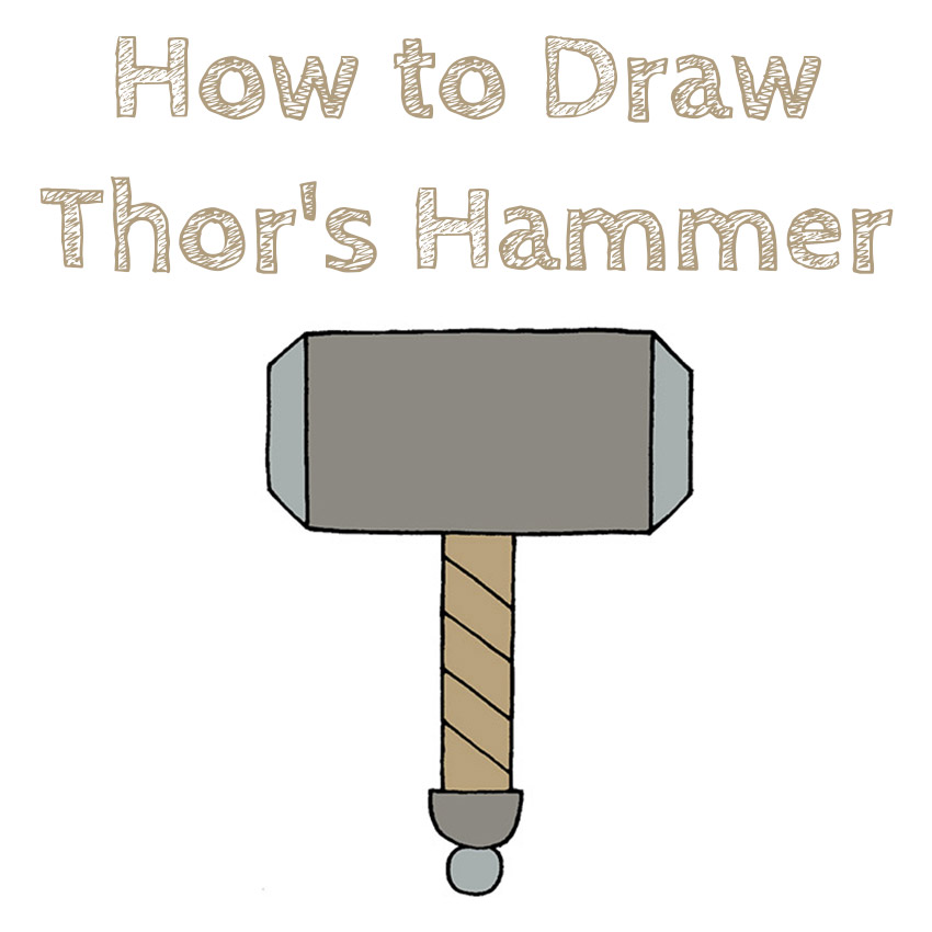 How to Draw Thor's Hammer