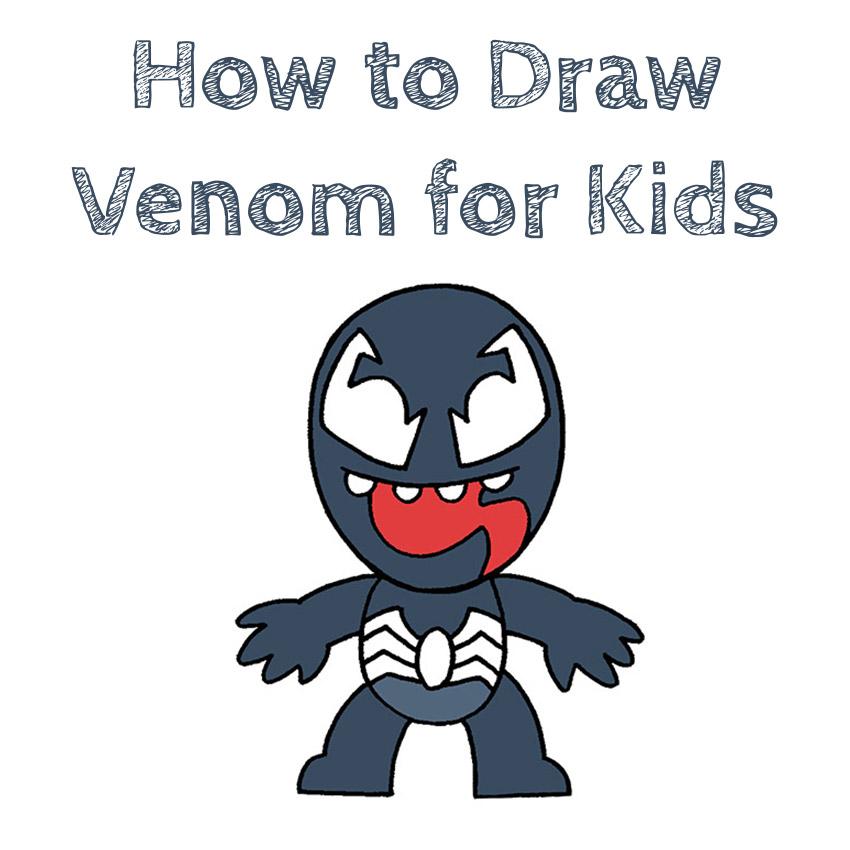 How to Draw Venom Easy