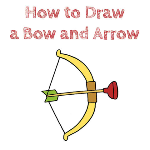 How to Draw a Bow and Arrow Easy