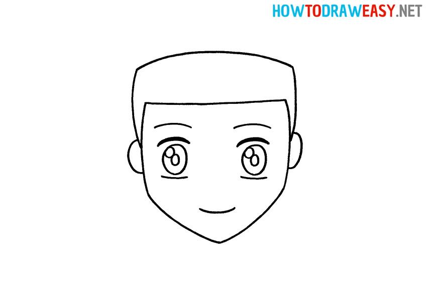 How to Draw a Cartoon Anime Face