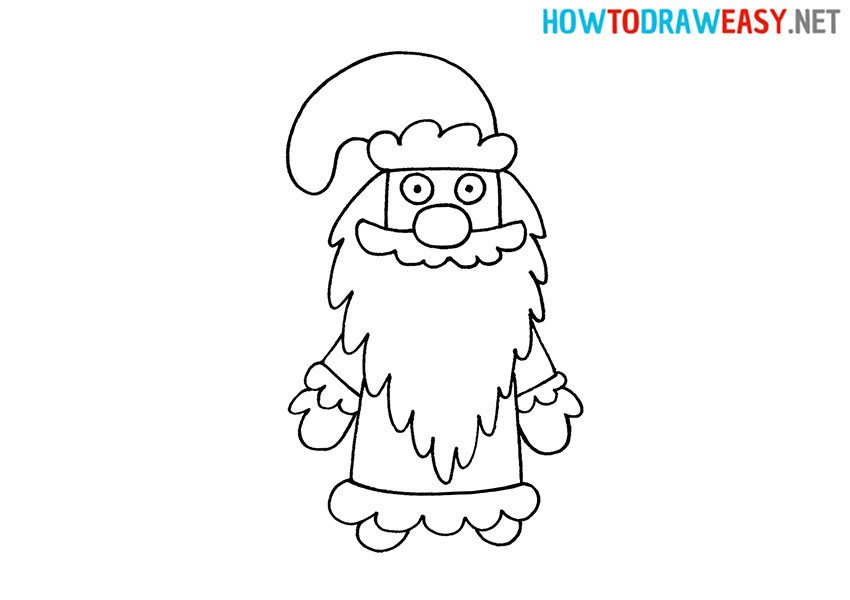 How to Draw a Cartoon Ded Moroz