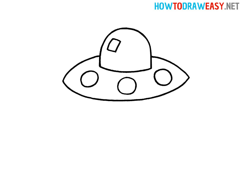 How to Draw a Cartoon UFO Spaceship