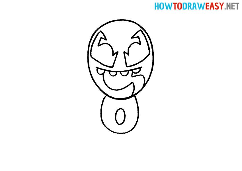 How to Draw a Cartoon Venom