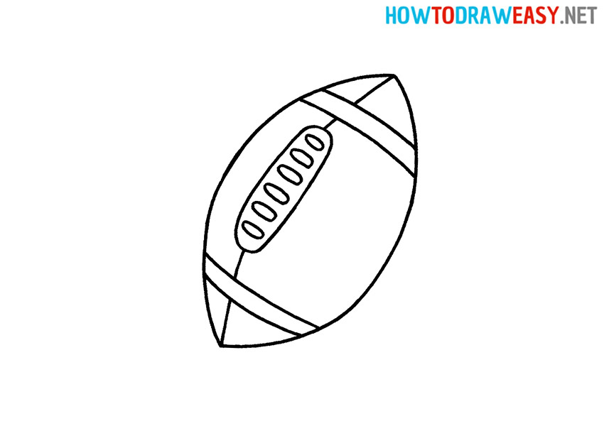 How to Draw a Football Easy
