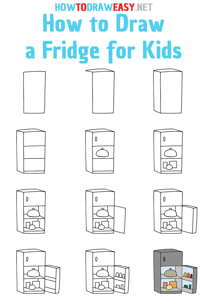 How to Draw a Fridge Step by Step