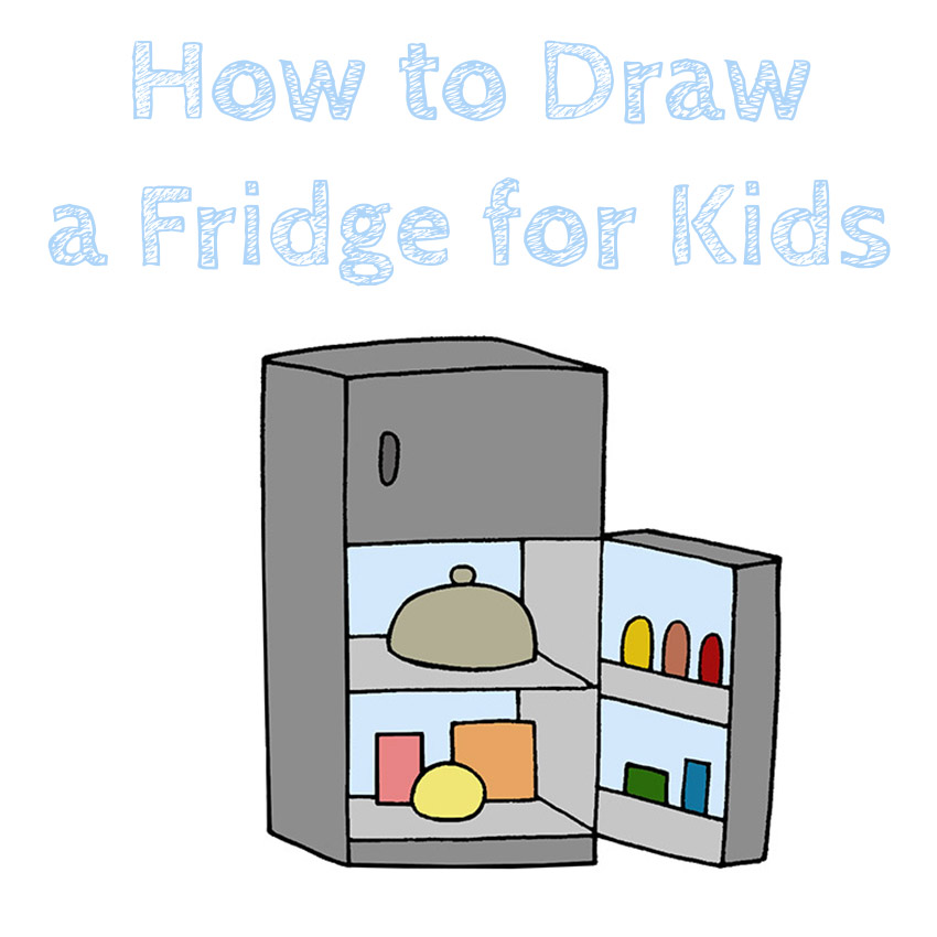 How to Draw a Fridge for Kids