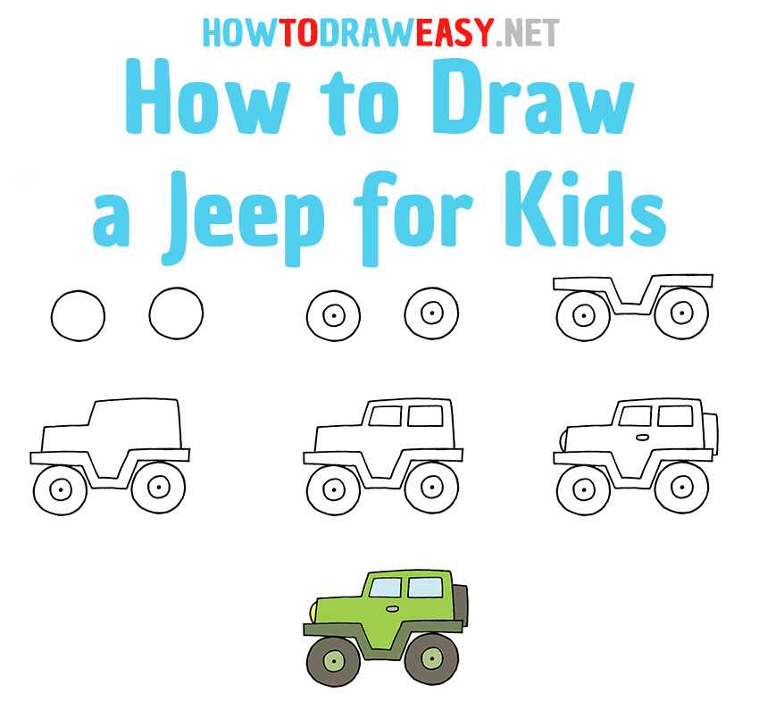 How to Draw a Jeep Step by Step