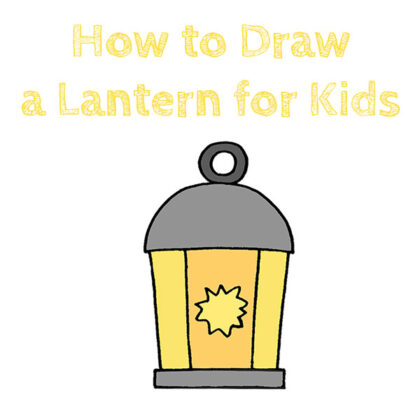 How to Draw a Lantern Easy