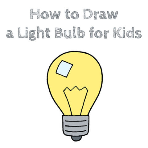 How to Draw a Light Bulb Easy