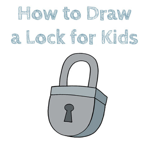 How to Draw a Lock Easy