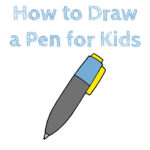 How to Draw a Pen for Kids