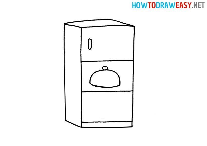 How to Draw a Refrigerator Easy