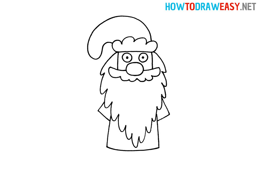 How to Draw a Simple Ded Moroz