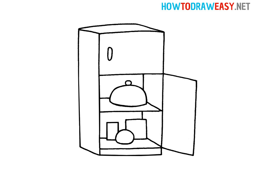 How to Draw a Simple Fridge