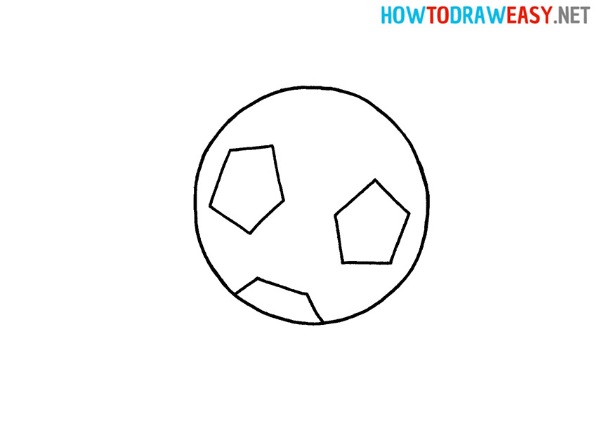 How to Draw a Soccer Ball Simple