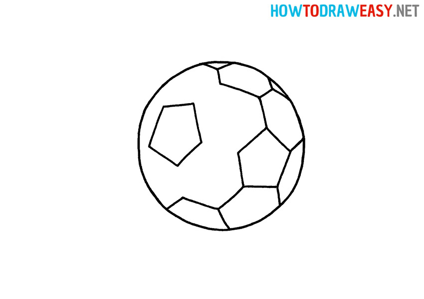 How to Draw a Soccer ball Easy